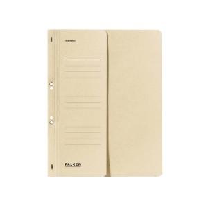 Ösenhefter, chamois, DIN A4, 250g/qm Manila-RC-Karton, 1/2 Vorderdeckel,
