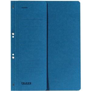 Ösenhefter, blau, A4, 250g Manila-RC-Karton, 1/2 Vorderdeckel,
