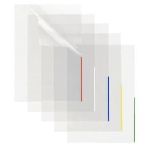 Index Sichthülle, PP, A4, trans- parent, Indexstreifen grün, oben