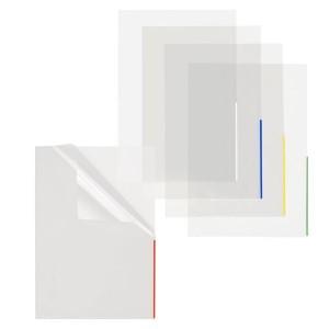 Index Sichthülle, PP, A4, trans- parent, Indexstreifen rot, oben