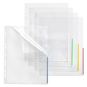 Index Sichthülle, PP, A4, EURO-Lochung transparent, Indexstreifen weiß,