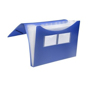 Fächer-Tasche 7er blau 235 x 334 x 28 mm (HxBxT)