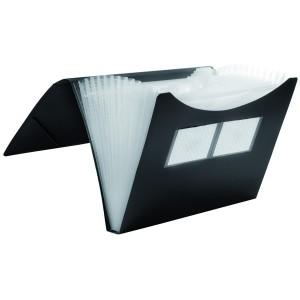 Fächer-Tasche 12er schwarz