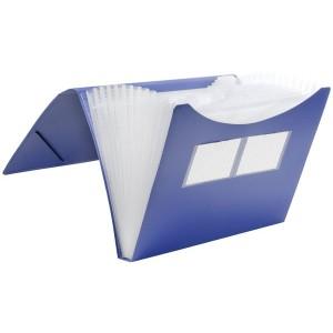 Fächer-Tasche 12er blau 235 x 334 x 28 mm (HxBxT)
