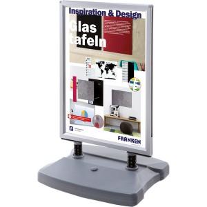 Kundenstopper A1 für Außenbereich befüllbarer Kunststofffuß, 2 Rollen,