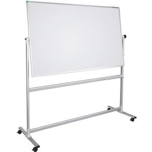 Stativdrehtafel U-Act, 100x150cm, magnethaftend, weiß, lackiert.