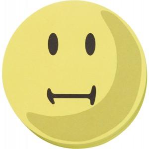 Moderationskarten 10cm # UMZ10S2 100 Stück, Gesicht neutral, gelb