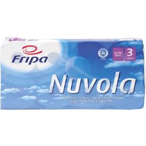 Toilettenpapier Nuvola 3-lagig hochweiß mit Blumenprägung