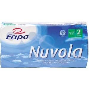 Toilettenpapier Nuvola 2-lagig hochweiß mit Blumenprägung