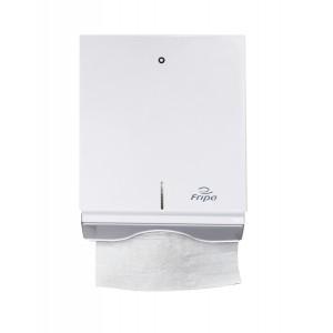 Handtuchspender Metall, weiß für V- und C-Falz, Maß: 270x350x130 mm