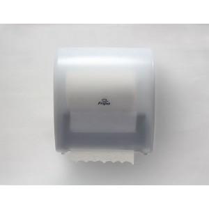 System-Handtuchrollenspender transparent/weiß, Kunststoff