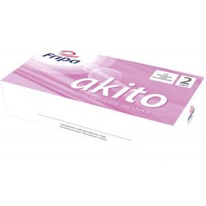 Kosmetiktücher akito 2-lagig aus 100% Zellstoff, hochweißes Tissue