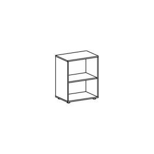 Regal 2 OH mit Standfüßen Buche 800x420x752 Flex