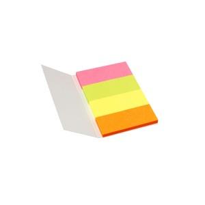 Index Haftstreifen Papier 4x20x50mm 4x40 Streifen, Info Notes Pager-