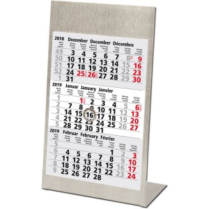 Dreimonatstischkalender 2019 # 77000