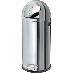 Hailo Großraum-Abfallbox KickMaxx 50 Liter, Edelstahl