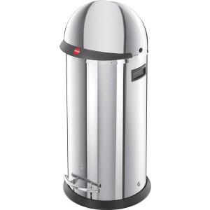 Hailo Großraum-Abfallbox KickVisier, 50 Liter, Edelstahl