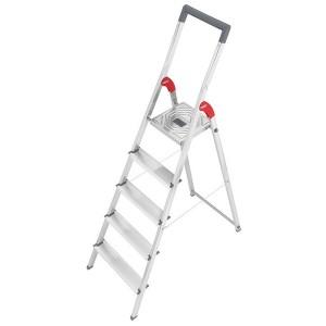 Hailo Sicherheits-Haushaltsleiter mit Bügel (rot) 5 Stufen # 8935027