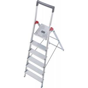 Hailo Sicherheits-Haushaltsleiter mit Bügel (rot) 6 Stufen # 8936027