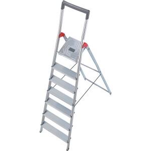 Hailo Sicherheits-Haushaltsleiter mit Bügel (rot) 7 Stufen # 8937027
