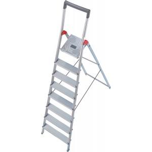 Hailo Sicherheits-Haushaltsleiter mit Bügel (rot) 8 Stufen # 8938027