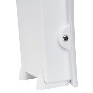 Sammelbox abschließbar, weiß, zum Hinstellen oder zur Wandmontage