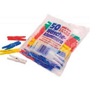 Wäscheklammern aus Plastik, 50 Stück