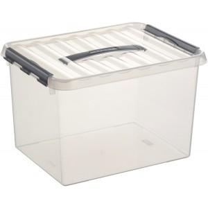 Kunststoff-Box 22 Liter, DIN A4, transparent, 300 x 400 x 260 mm,