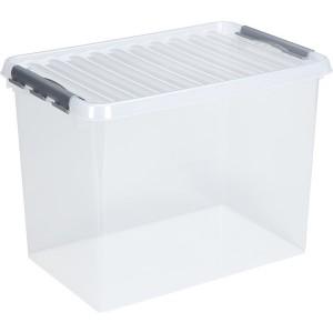 Kunststoff-Box 62 Liter, transparent, 400 x 600 x 340 mm,