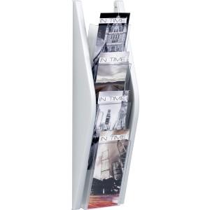 Prospektwandhalter 4 x 1/3 A4 hoch 4 Fächer, glasklar