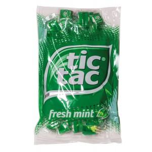 Tic Tac Fresh Mints 100 Portions- packungen à 4 Stück pro Beutel.