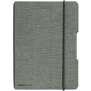 Notizheft flex Leinen, A4, kariert 40 Blatt, Papier 80g, grau, mit