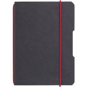 Notizheft flex Leder, A4, kariert 40 Blatt, Papier 80g, schwarz, mit