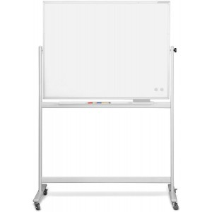 Mobiles Whiteboard CC, emalliert 2200 x 1200mm, Alurahmen