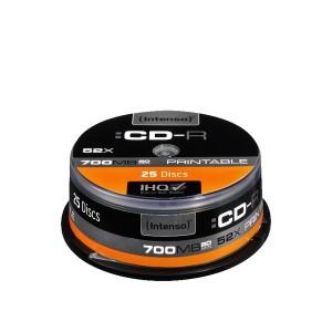 Rohling CD-R 80 Min. 700MB, 52x, 25er Spindel, bedruckbar