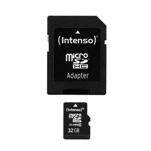 Micro-SDHC Speicherkarte 32GB 10MB/s Class 10, mit SD-Adapter