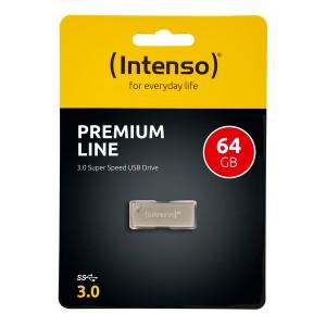 Speicherstick Premium Line USB 3.0, silber, Kapazität 64 GB