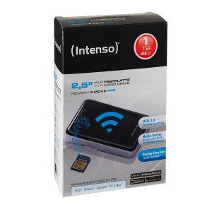 "Wi-Fi Festplatte 2,5"" USB 3.0 schwarz, Speicherkapazität 1 TB"