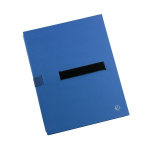 Aktenmappe BIG A4, blau, Klettver- schluss, flexibler Mappenrücken,