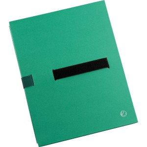 Aktenmappe BIG A4, grün, Klettver- schluss, flexibler Mappenrücken,