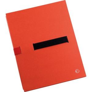 Aktenmappe BIG A4, rot, Klettver- schluss, flexibler Mappenrücken,