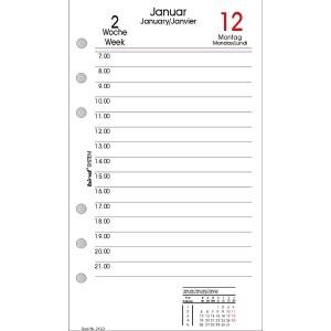 Bind Kalendereinlage A6 2019 1 Tag = 1 Seite, 3-sprachig