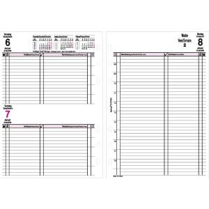 Bind Kalendereinlage A5 2019 1 Tag = 1 Seite 3-sprachig