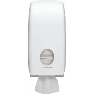 Toilettenpapierspender Einzelblatt, weiß, Aquarius