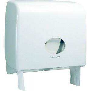 Toilettenpapierspender Midi Jumbo weiß, Aquarius, Kunststoff