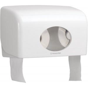 Toilettenpapierspender doppel, weiß, Aquarius, für Kleinrollen