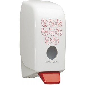 Desinfektionsspender Aquarius mit , Auffangschale, 1 L Kartusche, weiß