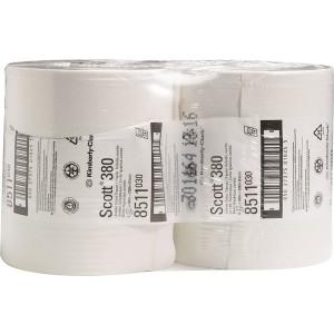 Toilettenpapier Scott 2-lagig weiß, f.Spender 6991,7184, 380m x 9,5 cm
