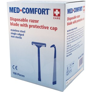 Einmalrasierer MED Comfort einschneidig, blau