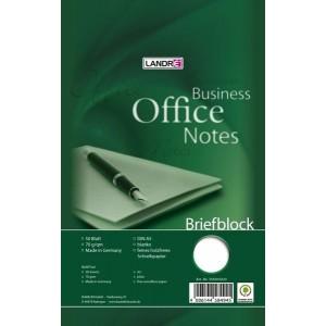 Briefblock Office A5/50 Bl., blanko, Lineatur 20, 70 g/qm